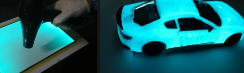Electroluminescent Paint Spray Technology and Materials