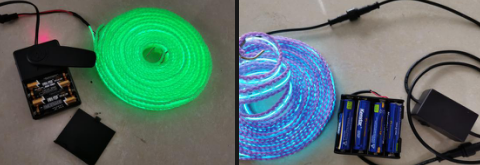 Self-hanging electroluminescent band