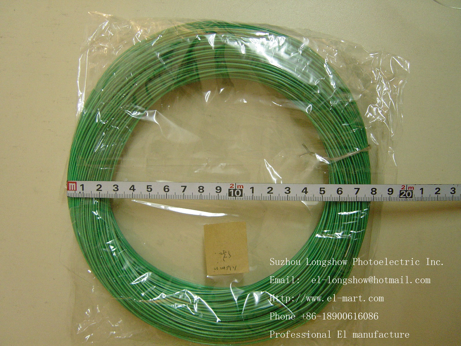 EL wire Specification and color
